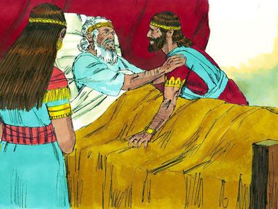 """David demande à Salomon de tuer Joab, chef armée. """"ne laisse pas ses cheveux blancs descendre dans le shéol en paix. » Si l'enfer était un lieu où les assassins payaient pour leurs crimes, David n'aurait pas dit qu'il descendrait en paix dans le shéol."""