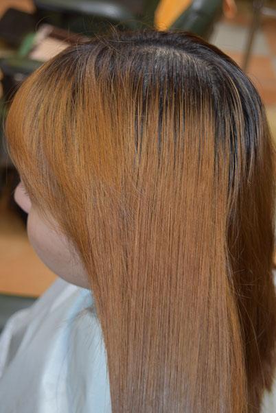 ビフォー かなり明るい・・・金髪だねぇ~!