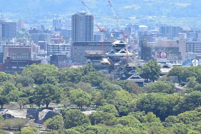 復旧工事中の熊本城・・・天守閣、