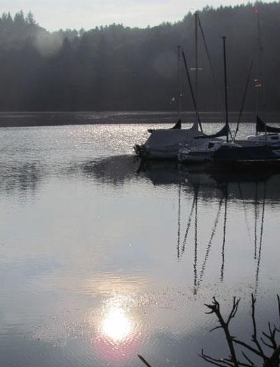 Beversee Abendstimmung achtsames Lauschen am See