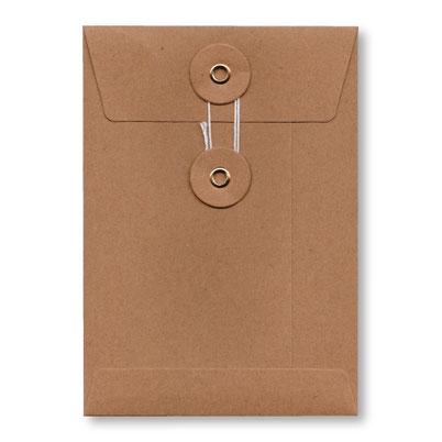 Tendrement Fé - illustration papeterie bohème enveloppe kraft à fermeture japonaise avec rondelles et ficelle collection illustrée aquarelle poétique