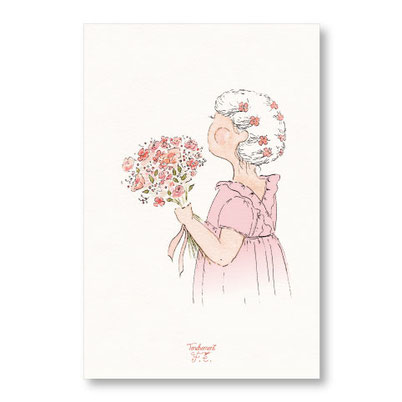 Tendrement Fé - illustration papeterie bohème carte douceur printanière demoiselle d'honneur collection illustrée aquarelle poétique fairepart mariage cérémonie illustratrice