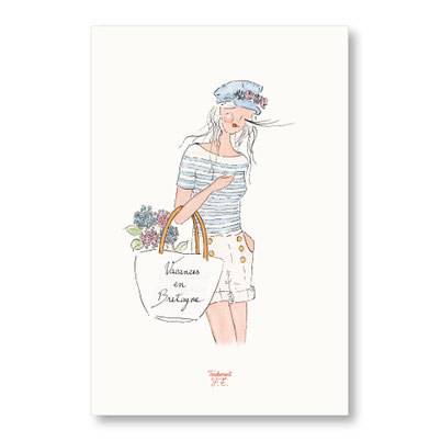 tendrement fé illustration papeterie bohème affiche illustrée vacances en bretagne aquarelle poétique illustratrice