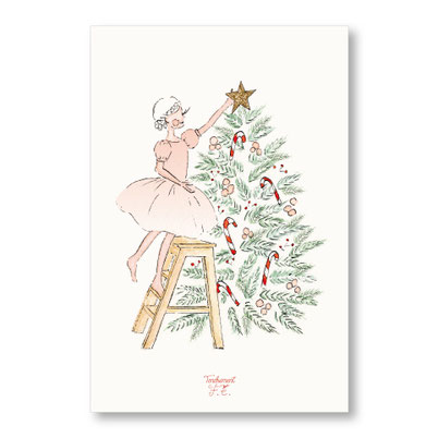 Tendrement Fé - illustration papeterie bohème carte étoile de noël aquarelle collection Joyeux Noël