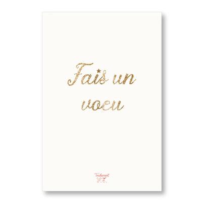 tendrement fé illustration papeterie bohème carte pailletée Fais un voeu collection les mots pailletés carterie poétique