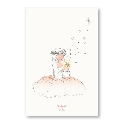 Tendrement Fé - illustration papeterie bohème carte voeux étoilés meilleurs voeux bonne année aquarelle collection Joyeux Noël