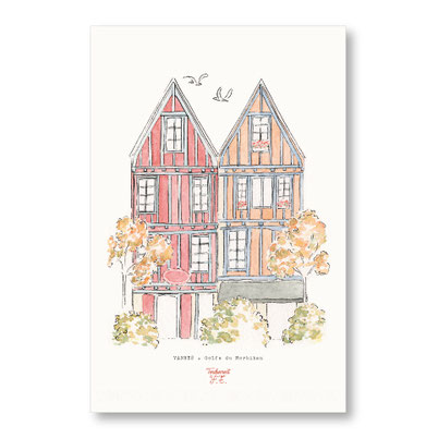 tendrement fé illustration papeterie bohème affiche illustrée ville de vannes bretagne aquarelle poétique illustratrice