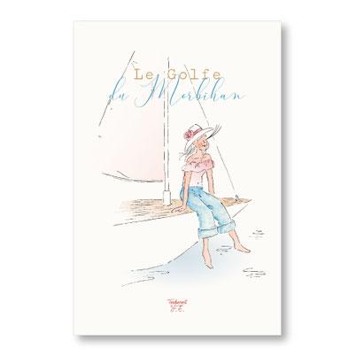 tendrement fé illustration papeterie bohème affiche illustrée golfe du morbihan bretagne aquarelle poétique illustratrice