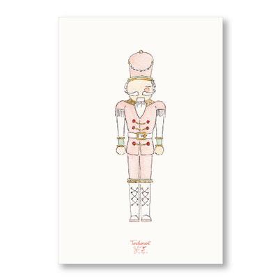 Tendrement Fé - illustration papeterie bohème carte casse-noisette aquarelle collection Joyeux Noël