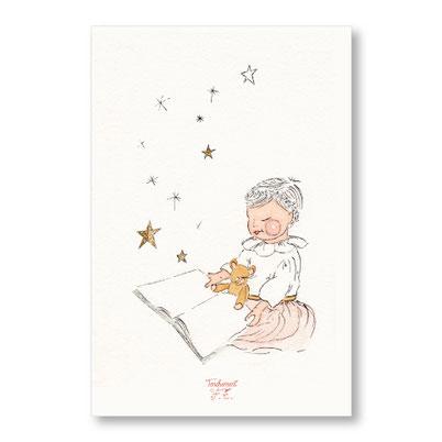 tendrement fé - illustration papeterie bohème carte conte de noël aquarelle collection Joyeux Noël