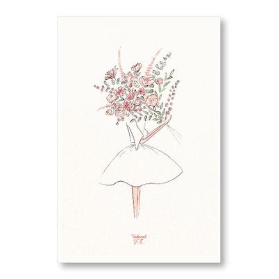 tendrement fé illustration papeterie bohème affiche illustrée bouquet champêtre fleurs aquarelle poétique illustratrice