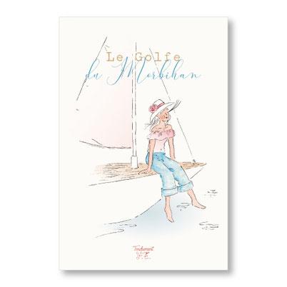 tendrement fé illustration papeterie bohème carte golfe du morbihan bretagne aquarelle bohème poétique