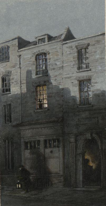 1850年代のメイデン・レーンのターナーの生家。