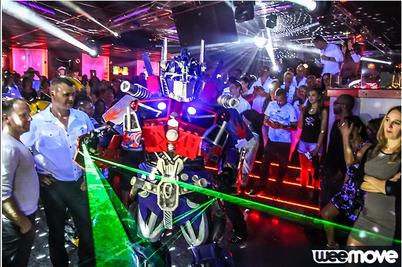 discotheque le macumba lille show robotlaser club