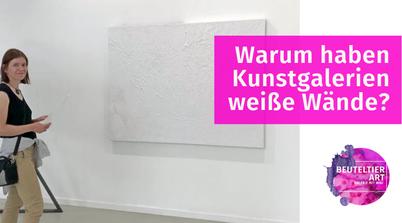 Kunstgalerien haben weiße Wände