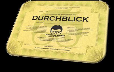 Für die Bürowand: Diploma-Urkunde als Gadget