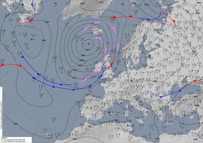 Bodenwetterkarte HFa GWL  | Bildquelle: Deutscher Wetterdienst