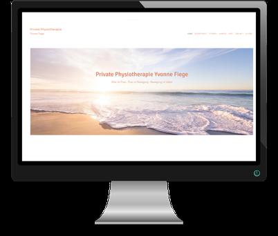 Seite designed von Anke Fröhlich für eine Physiotherapeutin