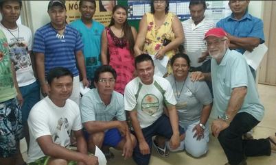 Indiani a Brasilia con Edineia