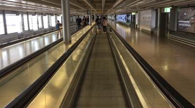 Long rolling way to make the long walk through airport buildings easier