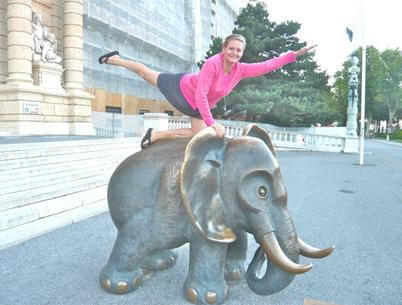 Annelie in Wien, Juli 2014.