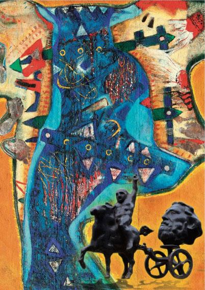 Galerie Time Kulturkreis Wien Günther Wachtl Radu Ciobanu Dorel Petrheus Bronze und Farbe Rumänien