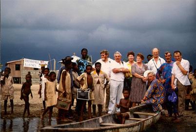 Premier voyage d'une délégation de représentants de Grand-Lieu à Nokoué en 1993.