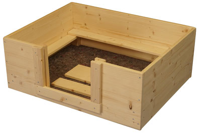 Wurfbox 60x60 mit Vlies von welpen-wurfkiste.de für z.B. Chihuahua oder Zwergspitz