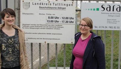 Am 4. April 2014 sind wir zu dritt nach Aldingen gefahren