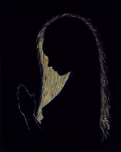 Bild:Abendgebet,Evening,prayer,Soul,naked,Akt,nude,Song,David Brandenberger,d-t-b.ch,d-t-b,Ölbild