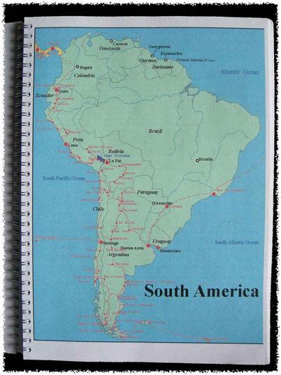 Bild:Reiseroute,Südamerika,David Brandenberger,d-t-b,d-t-b.ch,