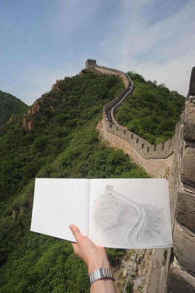 Bild:Skizze,China,Mauer,chinesische Mauer,David Brandenberger,d-t-b.ch,d-t-b,