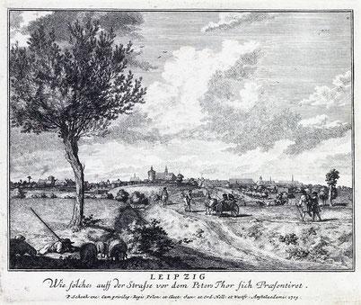 Vor dem Peterstor um 1705