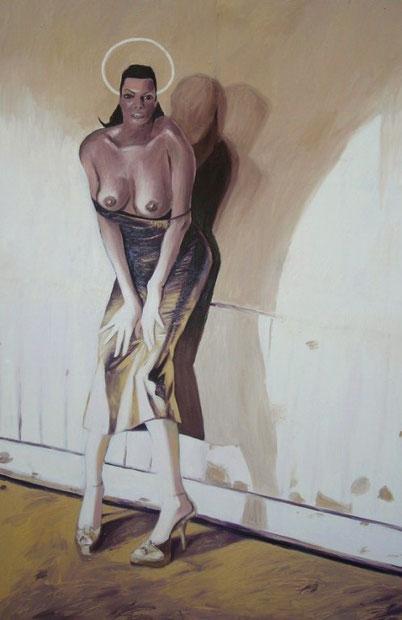 """Giulia""di Barbara Karwowska,olio su tela,100 cm x 150 cm"