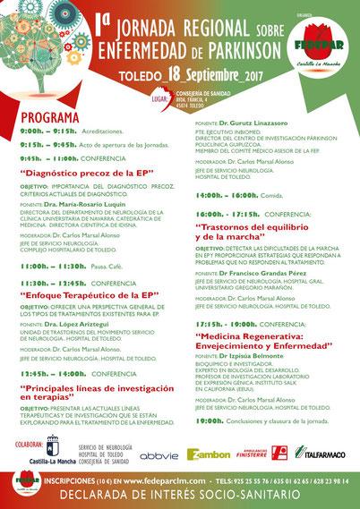 I Jornada Regional sobre la Enfermedad de Parkinson en Castilla La Mancha
