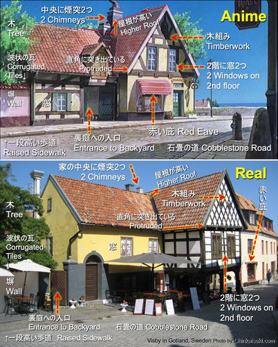"""魔女の宅急便、キキのパン屋ぐーちょきぱん店/グーチョキパン店のモデル Visby, Gotland, Sweden on """"Kiki's Delivery Service"""""""
