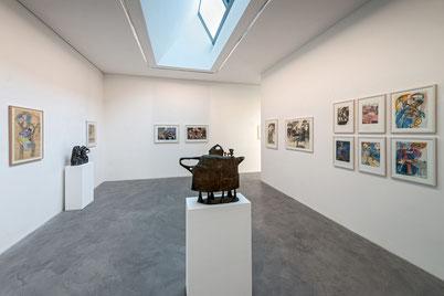 Überwiegend Arbeiten von Lothar Fischer auf Papier werden dieses Jahr im Obergeschoss des Museums präsentiert. Foto: Andreas Pauly