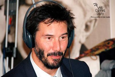 Keanu Reeves, venu présenter le documentaire «Side by Side» qu'il co-signe avec le  réalisateur, Chris Kenneally - Festival Lumière - Lyon - Octobre 2014 - Photo © Anik COUBLE
