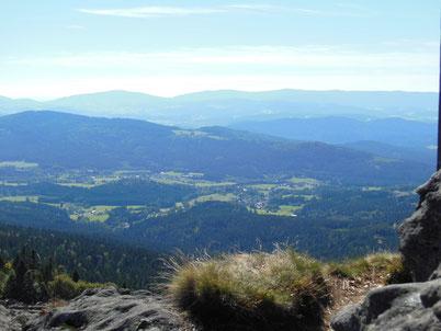 Wandern im Bayerischen Wald, Blick ins Zellertal