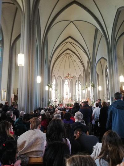 Messe zum 50.Jubiläum des Bistums im Dom von Reykjavik