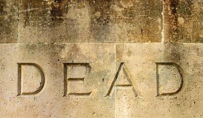 Inschrift auf dem Grabstein der CSU Miltenberg?
