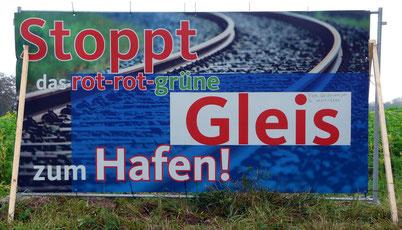 Plakat an der Stirper Straße