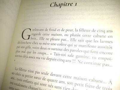 Photo d'un extrait du 1er chapitre du livre Les Larmes de l'âme de Christine Arnoux