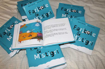Panaché de livres de Faribole et Mistigri paru chez YIL Éditions avec l'illustratrice Cloé Perrotin