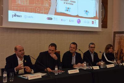 D'esquerra a dreta: Joan Elies Adell, Miquel Curanta, Pepe Zapata, Anton Ferret i Baig i Aina Torres