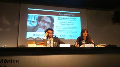 <<L'Oriol és erudició i passió en acció>> Laura Borràs (Dira. de la ILC)