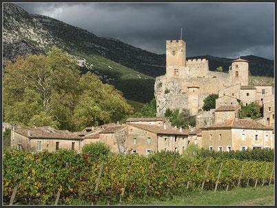 Vue depuis le Sud du Château de Baulx