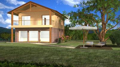 Villa tradizionale, 2 piani, 125mq