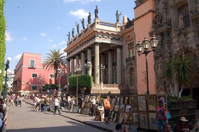 Das historische Teatro Juarez in Guanajuato, Zentralmexiko.