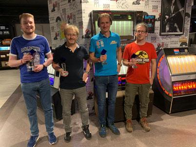 v.l.n.r. Jens, Thilo, Markus, Stefan